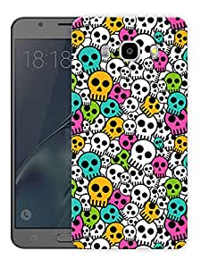 """Colorized Skulls CutePrinted Designer Mobile Back Cover For """"Samsung Galaxy J7 2016 Edition"""" (3D, Matte, Premium Quality Snap On Case)"""