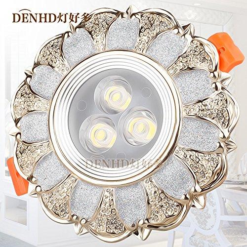 Via Light-Retro faretto a LED da incasso faretto a LED luce a soffitto continentale Americana 5W Lampada fori da soffitto,bianco