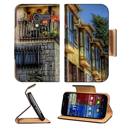 Corner Balcony Flowers Potted Plants Motorola Moto X Flip Case Stand Magnetic Cover Open Ports Customized Made To Order Support Ready Premium Deluxe Pu Leather 5 7/16 Inch (138Mm) X 3 1/16 Inch (78Mm) X 9/16 Inch (14Mm) Msd Mobility Cover Professional Mot front-982727