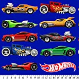 Hot Wheels Fleece Fabric: Cars In a Line (Anti-Pill, By the Yard)