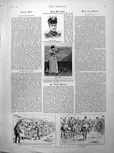 Stampa Antica della Gimcana 1894 di Sig.ra Crabbe