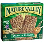 Nature Valley Oat & Honey Crunchy Granola Bars, 0.74-Ounce Bars (Pack of 144)