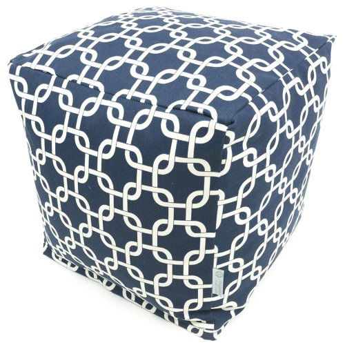 Majestic Home Goods Navy Blue Links Cube Small Garden