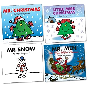 Mr Men Christmas Pack, 4 books, RRP £11.96 (Little Miss Christmas, Mr Christmas, Mr Snow, The Night Before Christmas) (Mr Men)