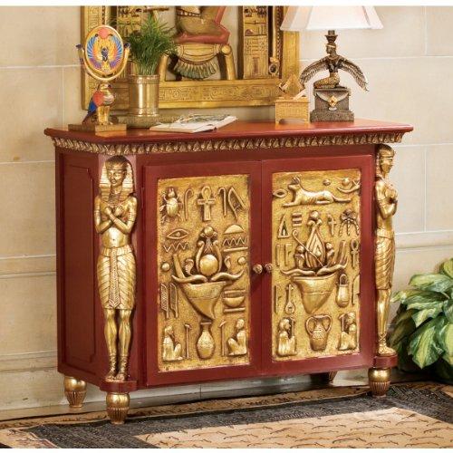 Cheap Classic Egyptian Palace of Ramses Egyptian Console Table/ Hallway Table (NE36742)