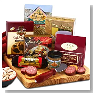 Sausage Cheese and Crackers Christmas Gift Set | for Men or Women