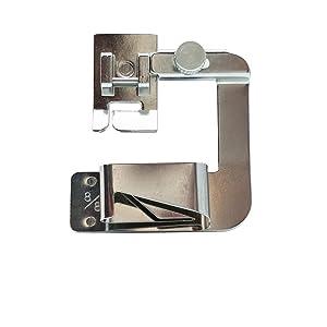 FQTANJU 3 Sizes Adjustable Rolled Hem Foot (1,1/2,3/4) Sewing Machine Presser Foot Hemmer Foot Set for Singer Brother Janome Babylock Juki (Color: 3 Pieces)