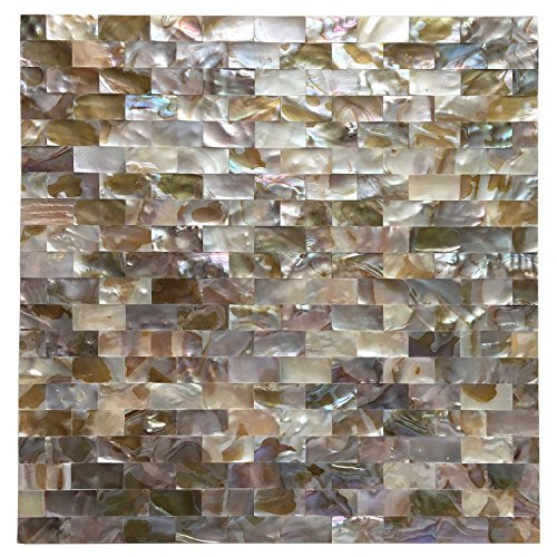 Art3d Peel and Stick Mother of Pearl Shell Mosaic Tile for Kitchen Backsplashes, 12