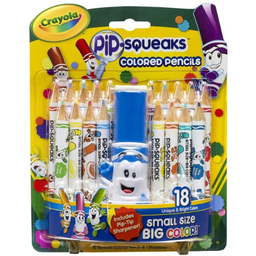 Crayola 18ct. Pip-Squeaks Colored Pencils withsharpener - 1