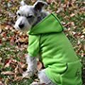 FLEECE LINED DOG PET HOODIE ★ HEAVYWEIGHT EMBROIDERED SWEATSHIRT ★ LIME GREEN ★ ALL SIZES (Medium)