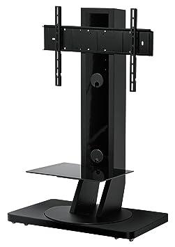 Gisan FS-142 NE Standfuß auf Rädern fur TV Geräte mit einer Bildschirmdiagonalen bis max. 224 cm (88 Zoll), schwenkbar, höhenverstellbar, Traglast max. 65kg, VESA max. 600x400, weiß