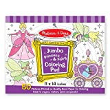 Melissa & Doug Princess & Fairy Jumbo Coloring Pad [Toy]