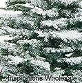 7' Medium Flocked Noble Christmas Tree from Swift Imports