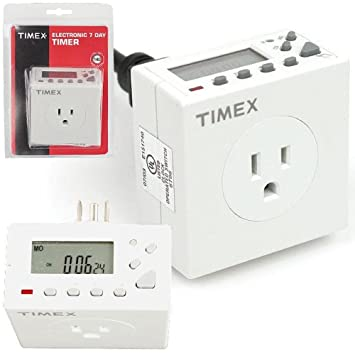 Timex 72-12626 Electronic 7 Day Appliance Timer - Wall Timer ...