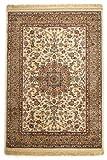 Lalee  347017560  Klassischer Teppich mit Fransen / Weich / Seidenglanz  / Muster : orientalisch / Creme / Grösse : 120 x 170 cm