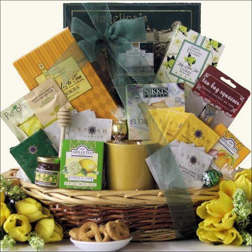 Tea Treasures ~ Large: Gourmet Tea Gift Basket