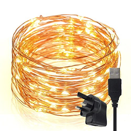 led-string-lightstechrise-10-meters-100-leds-star-starry-copper-wire-fairy-string-lights-for-holiday
