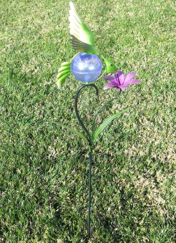 Beautiful Garden Decorative Humming Bird Solar Light Metal Art Decor For Yard Stake