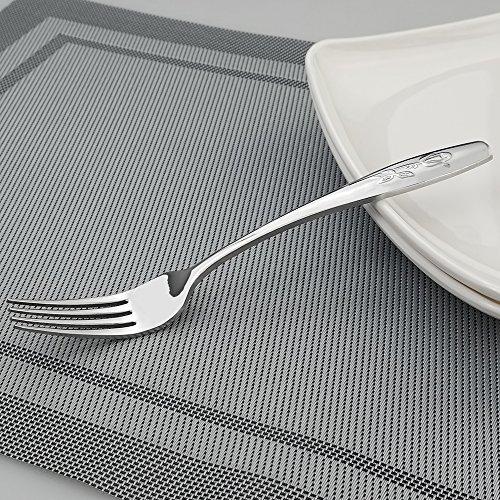 12-Piece Salad/ Dessert Fork, Stainless Steel Flatware Set by Eagrye