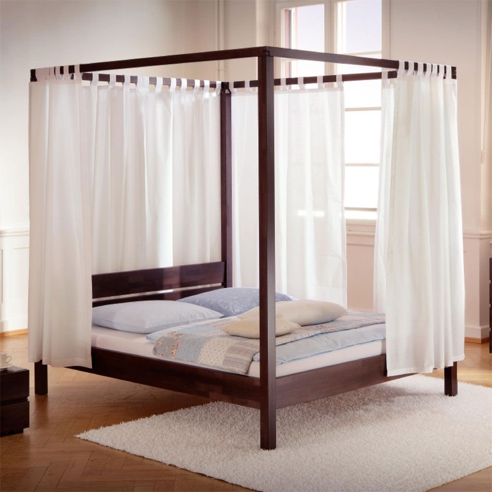 Himmelbetten Bett mit Baldachin Buche schoko Schlaraffenland Ausführung 3 Pharao24 günstig kaufen