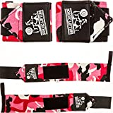 Wrist Wraps (1 Pair/2 Wraps) for Weightlifting/Crossfit/Powerlifting/Bodybuilding -For Women & Men- Premium Quality Equipment & Accessories Avoid Injury During Weight Lifting-(Flames)- 1 Year Warranty