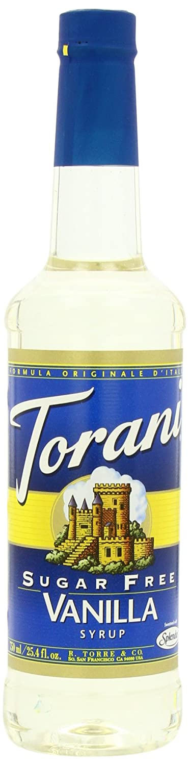 Torani Sugar-Free Syrup, Vanilla, 25.4-Ounce PET Bottles (Pack of 3)