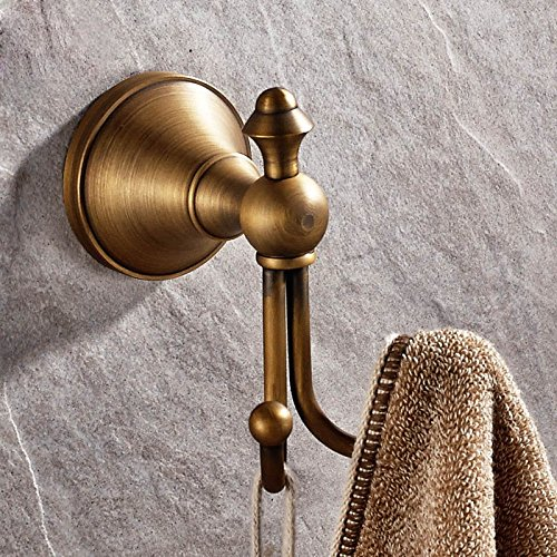 QUEEN'S Retrò accessori per bagno bronzo antico continentale American singolo gancio gancio a muro