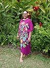 Batik Hand Painted Floral Full Size Caftan Kaftan Cover Up