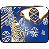 Snoogg Concetric Squares And Circles 2611 12 To 12.6 Inch Laptop Netbook Notebook Slipcase Sleeve