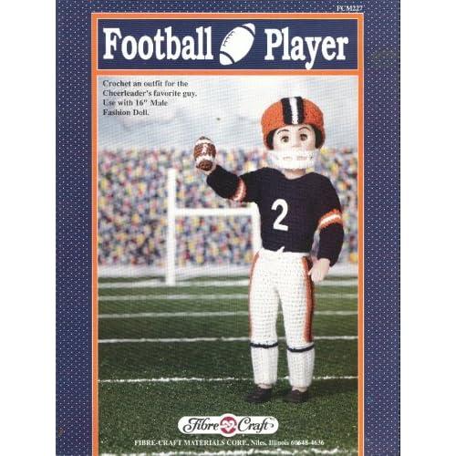 Football Player Fibre Craft Fcm227 Crochet Doll Pattern