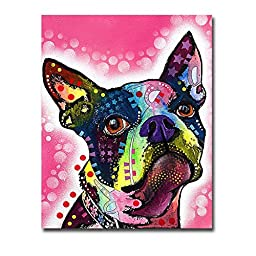 Boston Terrier by Dean Russo Premium Gallery-Wrapped Canvas Giclee Art (Ready to Hang)
