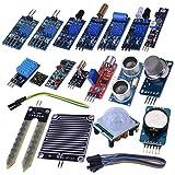 Kuman Arduino用センサー DIY キット センサーモジュール 電子部品 20-in-1 DIY Arduino用センサー 初心者 UNOR3 実験用 Arduino UNO R3 Mega2560 Nano/Raspberry Pi 3 2 B Bに適用 KY62