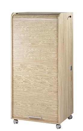 Simmob ORGA140CNB armadio informatico Mobile con 2 cassetti, in legno di rovere naturale, 53,1 x 65,2 x 139,20 cm