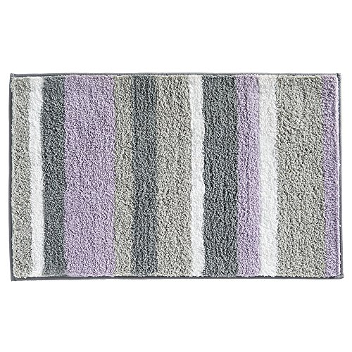 Interdesign Microfiber Bathroom Shower Accent Rug: InterDesign Microfiber Stripes Bathroom Shower Accent Rug