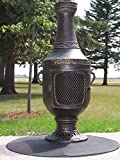 The-Blue-Rooster-Venetian-Chiminea-in-Gold-Accent-with-Gas-Kit-20-Hose
