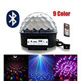 Julitech Crystal Magic Effect Ball Light Upgrade 9 Color Mp3 Bluetooth Music RGB Led With Music DMX For Disco Dj Stage Party