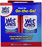 Wet Ones Travel Packs Fresch Scent 10 Packs, 200 Wipes