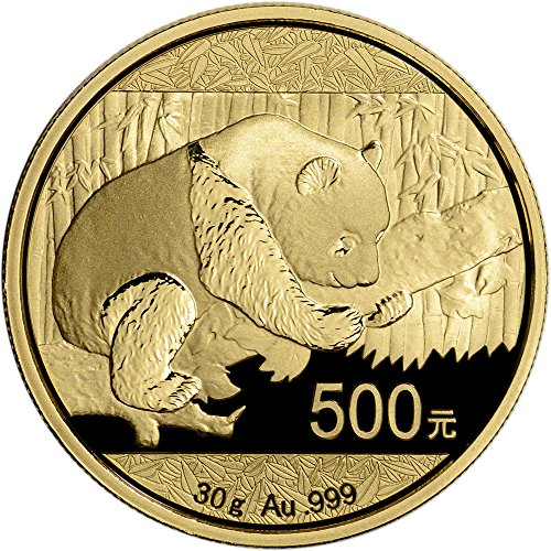 2016 CN China Gold Panda (30 g) 500 Yuan Brilliant Uncirculated China Mint