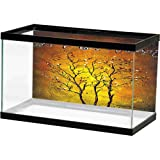 bybyhome Fish Tank Sticker Background 10 Gallon Desolated Tree (1) Image Fish (Color: Design17, Tamaño: 24
