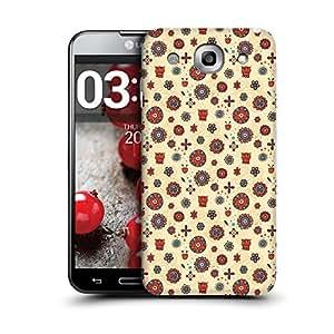 MobileGlaze Designs Tribal Floral Print Khaki Hard Back Case Cover for LG G PRO E985