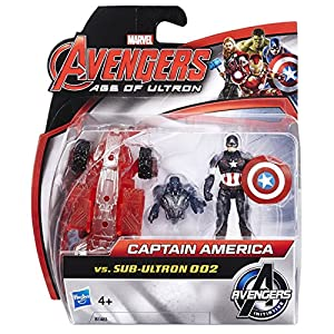 Marvel Avengers Age of Ultron Captain America vs Sub-Ultron 002 Action Figure Pack