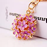 CHMING Fashion Little Daisy Flower Keychain Purse Bag Pendant Keychain Womans Handbag Charm (Color: Purple, Tamaño: 1.49 x 1.49 inch)