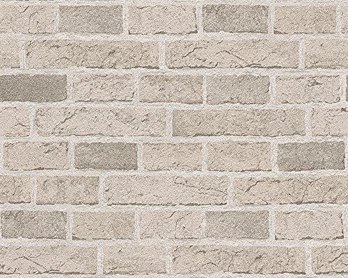 As creation papel pintado efecto de pared de ladrillo for Papel pared efecto piedra