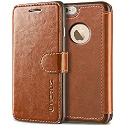 iPhone 6S Plus Case, Verus [Layered Dandy][Brown] - [Premium Leather Wallet][Slim Fit] For Apple iPhone 6 6S Plus 5.5