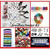 Deluxe Jewellery Making kit - Findings, Beads, Wire, Chain, Pliers & Jewellery Making Starter Book