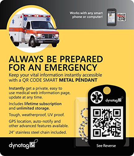 dynotag-internet-enabled-qr-code-smart-military-style-metal-emergency-information-tag-and-chain-set