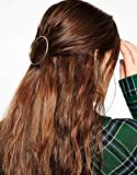 Minimalist Dainty Gold Silver Hollow Hoop Round Circle Geometric Metal Hairpin Hair Clip Clamp Accessories Barrettes Bobby Pin Ponytail Holder Statement Women's GIFT Headwear Headdress Styling Jewelry