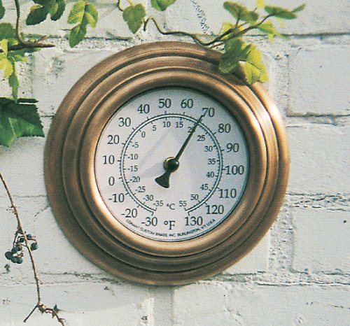 Buy Classic Copper Outdoor Wall Thermometer (8 inch)