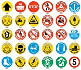 Floor Graphic Markers - Safety Floor Signs - NO PEDESTRIAN TRAFFIC (No Text)