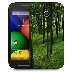 Snoogg Green Forest Designer Protective Phone Back Case Cover For Motorola E2 / MOTO E22